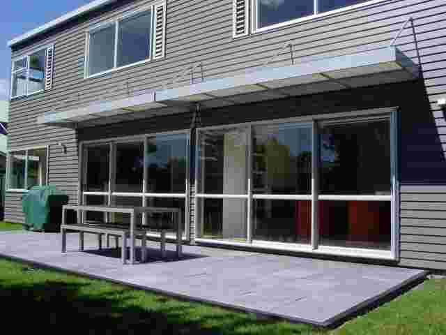 Fixed Frame Awnings - Contemporary Box awning over ranch sliders in Ellerslie copy.jpg
