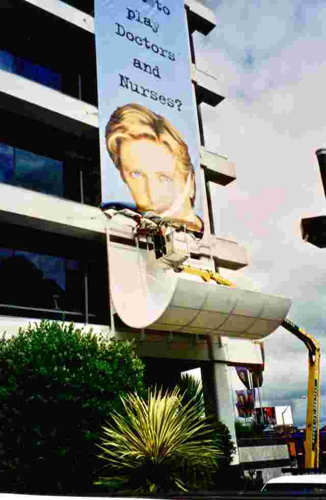 Fixed Frame Awnings - Curved Fixed Frame promotional prop on front of TVNZ building in Auckland copy.jpg