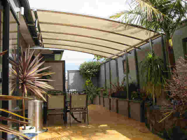 Fixed Frame Awnings - Curved Patio room in Stainless Steel in Auckland 2 copy.jpg