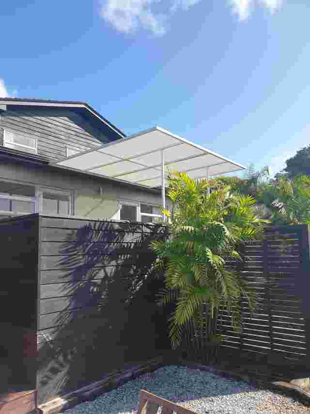 Fixed Frame Awnings - Flat panel Awning with PVC mesh in Auckland copy.jpg