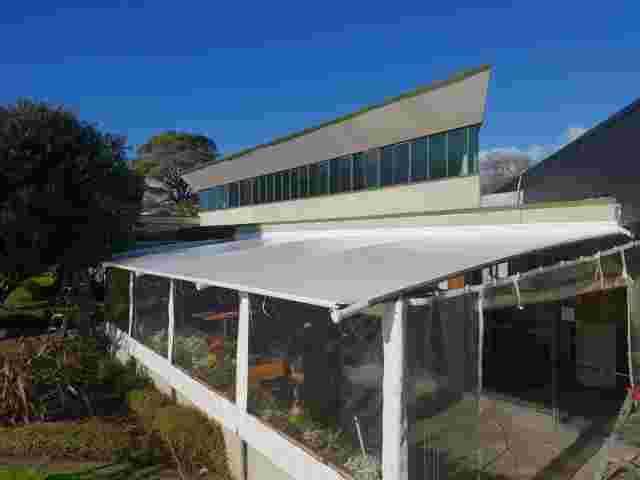 Fixed Frame Awnings - Tensioned PVC roof with hand-rolled blinds copy.jpg
