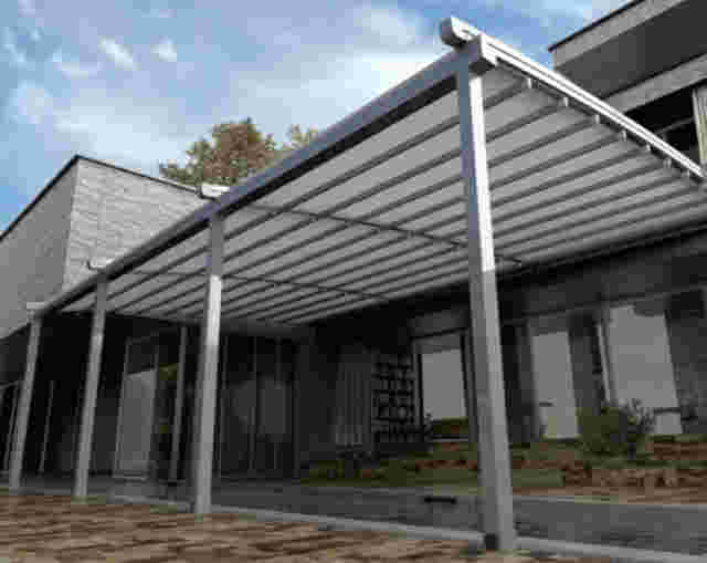 Retractable Roof - Curved Oztech Retractable Roof