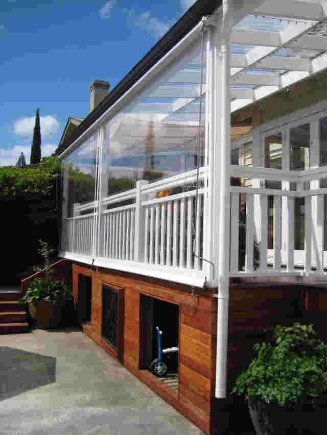 Patio Screens - Standard Patio screen on timber pergola in Pt Chevalier 2 copy.jpg