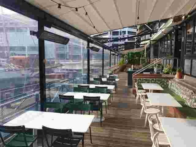 Patio Screens - Ziptrak screens on retractable roof structure at Princes Wharf copy.jpg
