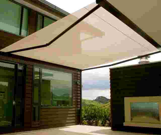 Retractable Awnings - Cassette Folding Arm awning over outdoor patio in Mangawai (1).jpg